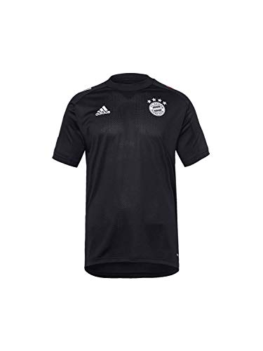 adidas Kinder 20/21 FC Bayern Training Jersey Trainingstrikot, Black/Fcbtru, 152