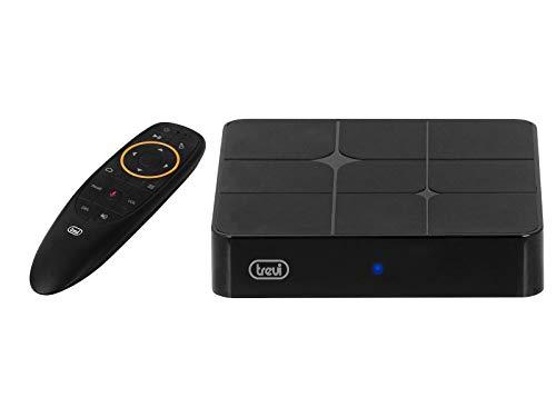 Trevi Ip 360 S8 Smart Tv Internet Box 4K, Sistema Operativo Android 7, Quad Core, Ram 2Gb, Rom 16Gb, Extension Display, Bluetooth, Usb, Mouse Wireless Senza Fili, Telecomando