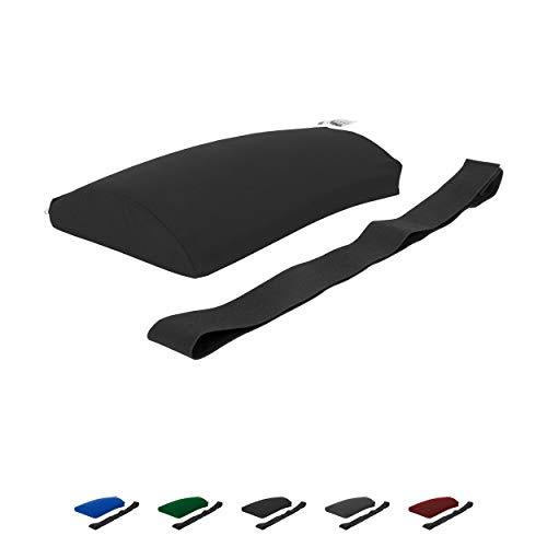 Sport-Tec Lendenkissen mit Bezug und Gurt Sitzkissen Rückenkissen für Büro und Auto