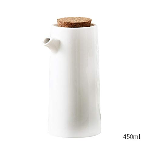 Salsera Cocina de porcelana Cocinar botella de aceite Herramientas Botellas de almacenamiento de aceite de oliva Especias bote de salsa de soja vinagre de condimento de la lata Salsera y soporte