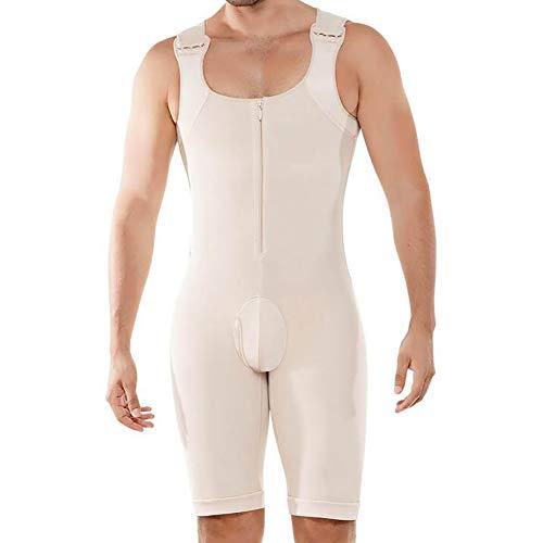 SHANGXIAN Männer Shapewear Bodysuit Unterwäsche Waist Trainer Kompression Bauch Öffnen Sie den Schritt Körperformer Jumpsuit,Skin,6XL