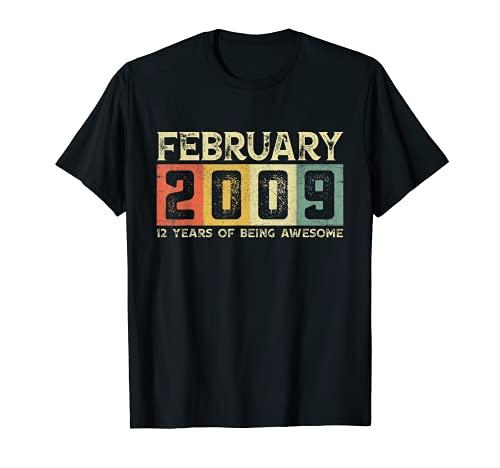 12th Birthday Febrero 2009 Traje 12 años de ser impresionante Camiseta