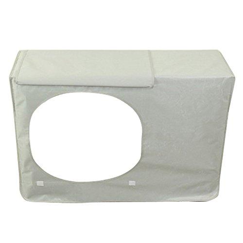 Außen Staubdicht Wasserdicht Klimaanlage Abdeckung Schutzhülle - Silber-Grau, 78x55x28cm