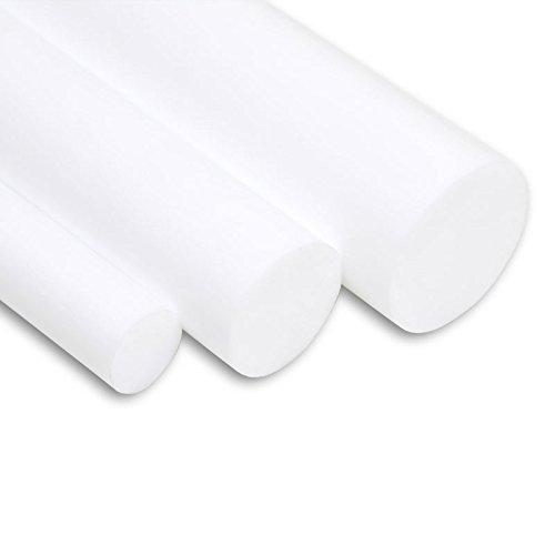 PTFE Rundstab virginal extrudiert weiß - Ø 30 mm - Länge: 100 mm