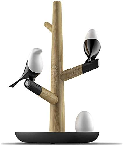 SpiceRack Lámpara de Mesa Dormitorio, luz Nocturna Magpie Bird Cargador USB Luz Nocturna Inducción de vibración Inteligente Lámpara de Escritorio LED Huevos pequeños Luz LED Decoración del h