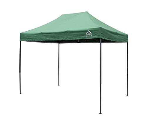 All Seasons Gazebos, 3x2m Heavy Duty Fully Waterproof, Premium Pop Up Gazebo + Carry Bag and Weights (Green)