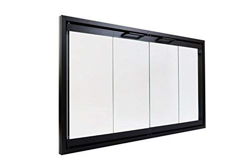 Heatilator Prefab Fireplace Door   Easy to Install   Frame Included   Stop Annoying Drafts