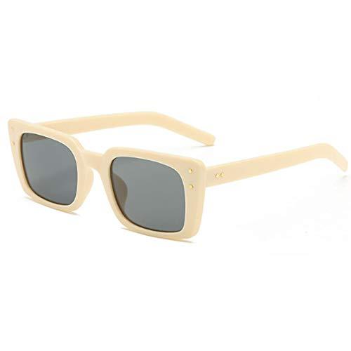 N/A Gafas de Sol Nuevas de diseño de Marca para Mujer, Gafas de Sol cuadradas con Montura pequeña, Gafas de Sol Vintage para Mujer, Gafas de Sol UV400 Regalo de cumpleaños