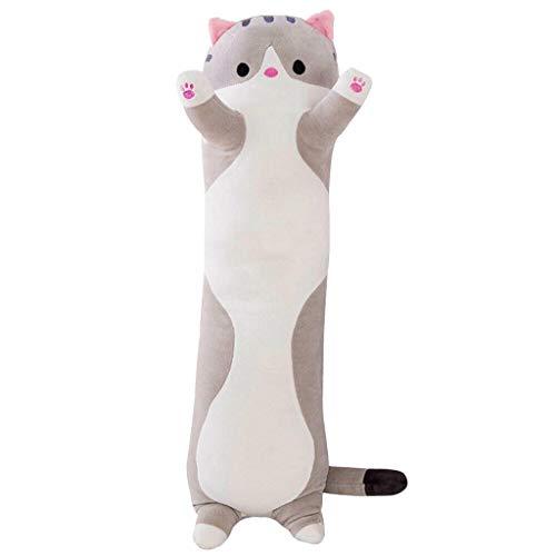 Muium(TM) Almohada estándar, cojín corporal, cojín cervical, peluche, peluche, para perros, gato de peluche, suave, juguete para niños, novia, 90 cm