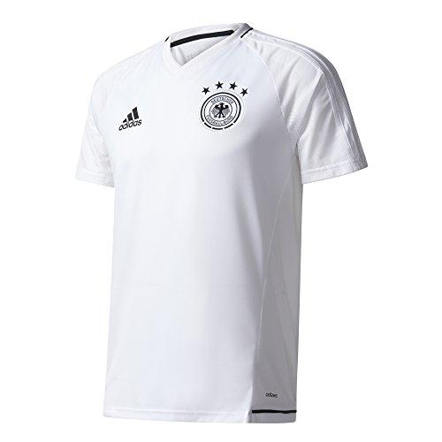 adidas Herren DFB Training Jersey Shirt, White/Black, XS