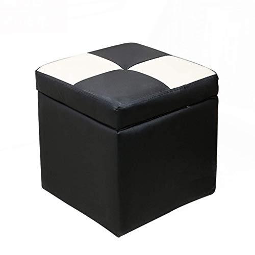 FWZJ Taburete - Taburete de Almacenamiento, Taburete de sofá para el hogar, Banco de Zapatos/Taburete de Extremo de Cama/Cuero Artificial (Color: A)