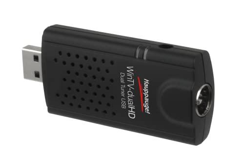 Hauppauge WinTV-dualHD 01590 - USB (dual) 2x TV-Tuner - gleichzeitig Fernsehen und Aufnehmen DVB-T2 HD, DVB-C HD, DVB-T für Laptop oder PC