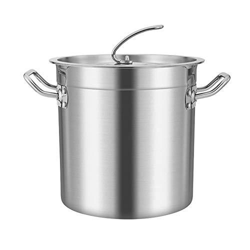130 litros Guoguocy Ollas Rectas Pottine, con Tapa colgable de Acero Inoxidable, Fondo Compuesto de Cinco Capas, Especial para la Cocina de inducción, 7 tamaños, Plata (Color : Silver, Size : 55cm*55cm(130L))
