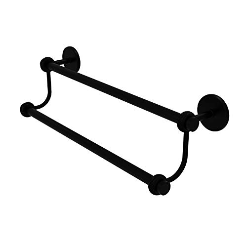 Allied Brass 7272T/24 24 Inch Double Towel Bar, Matte Black