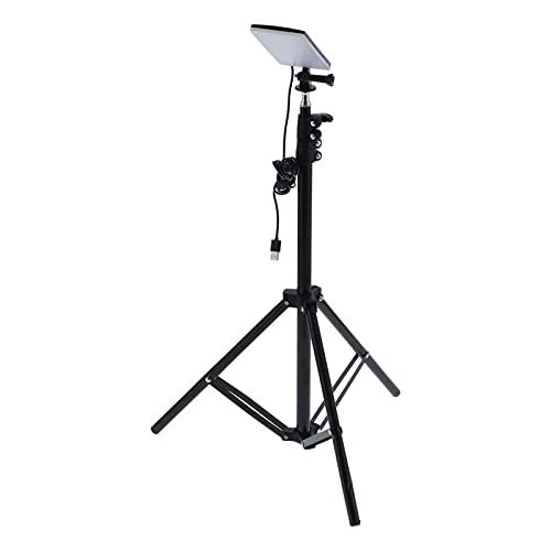 Lámpara telescópica para cámara selfie, 18 W, luces para acampar al aire libre, trípode, lámpara LED, alimentación por USB, soporte libremente retráctil, adecuada para fotografía, viajes sin conductor