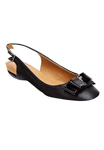Comfortview Women's Wide Width The Nikki Sling Shoes - 11 W, Black