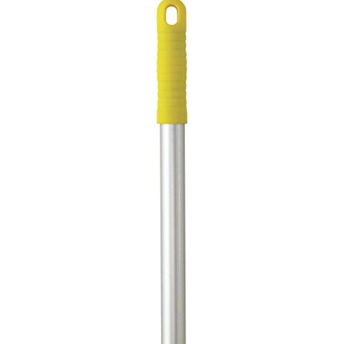 "Vikan 29596 59"" Aluminum Handle with Threaded Tip, 63/64"" Diameter, Yellow"