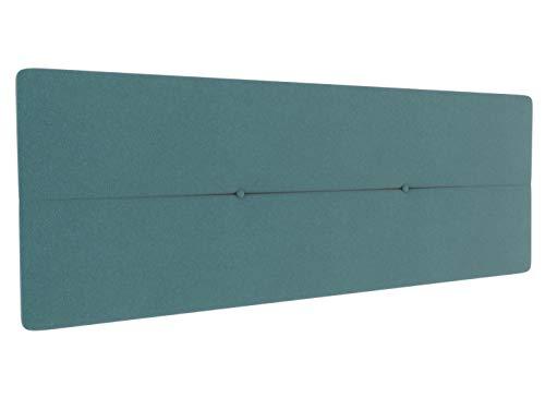 LA WEB DEL COLCHON - Cabecero tapizado Julie para Cama de 135 (145 x 55 cms) Turquesa Textil Suave