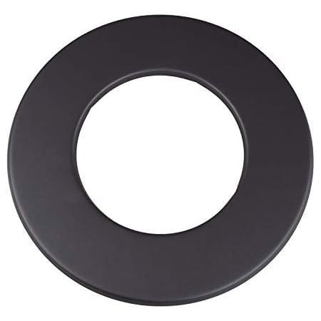 Ofenrohr Rauchrohr Wandrosette 100-135mm schwarz Kaminrohr