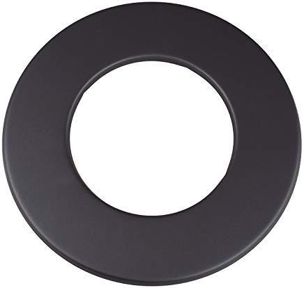 Adorosol Vertriebs GmbH Rosette 155mm schwarz Ofenrohr Wandabschluss150mm Rauchrohr Rand 70mm