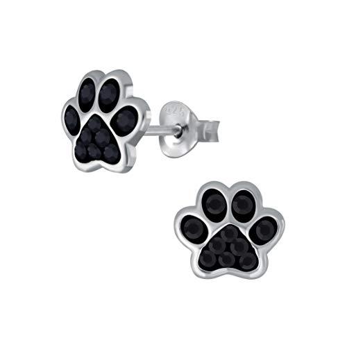 Laimons Pendientes para niñas y niños, joyas para niños, diseño de huellas de perro, con...