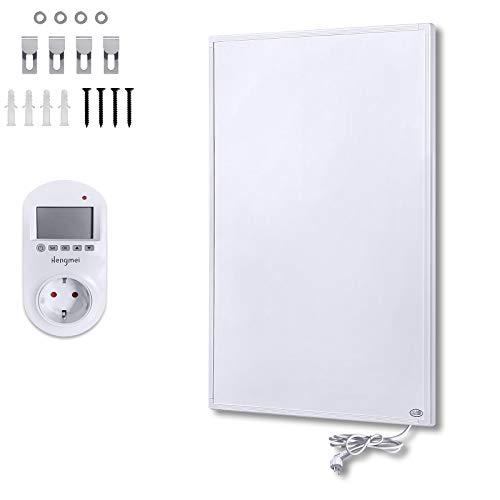 LZQ Infrarotheizung 600 Watt mit Thermostat, Infrarot-Elektroheizung, Wandheizung Elektroheizung Wand - Infrarot-Technologie, ultraflach, Überhitzungsschutz - GS Tüv
