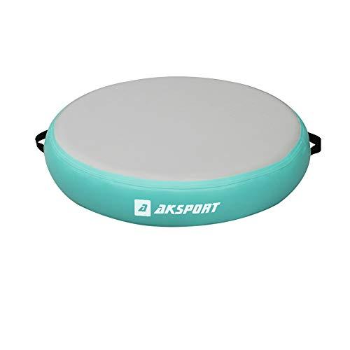 AKSPORT Airspot Luftmatte, rund, für Fitnessstudio, Training, Durchmesser 0,7 m/1 m/1,4 m