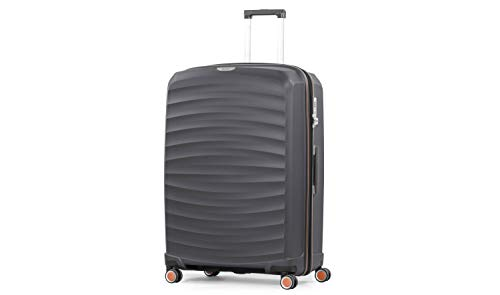 Rock Sunwave 79cm Expandable Hard Shell Suitcase Charcoal