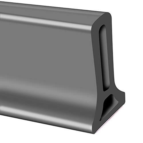 Faltbare Duschschwellen Shower Barrier Water Stopper,Silikon Wasserstopper Wasserdamm Wasserdichtes Duschsperr Rückhaltesystem,Duschwasserdamm,50cm-200cm (Black, 1m)