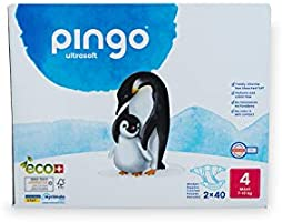 Pingo Pannolini 7-18 kg, taglia 4, 2 confezioni da 40 pezzi