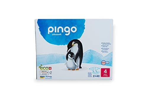 Pingo Couche Bébé Écologique 7 à 18 Kg/Taille 4, 2 Paquets de 40 Couches