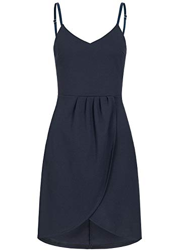 Styleboom Fashion® Damen Kleid Cocktailkleid Adjustable Wrapped Strap Dress Navy blau, Gr:S