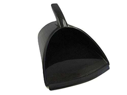 Handy Pan - Recycled Black Plastic - Large Capacity Heavy Duty Dust Pan! Made in USA! Great for Home, Shop, Garage, Waterproof, Stackable, Stands Up. Rubber Edge gets The All Debris in! Handypan!