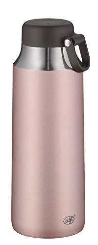 alfi Thermosflasche City Tea Bottle rosa 900ml, Edelstahl Trinkflasche 100% dicht auch bei Kohlensäure, 5547.284.090 Thermoskanne 12 Stunden heiß, 24 Stunden kalt, Teeflasche BPA-Frei