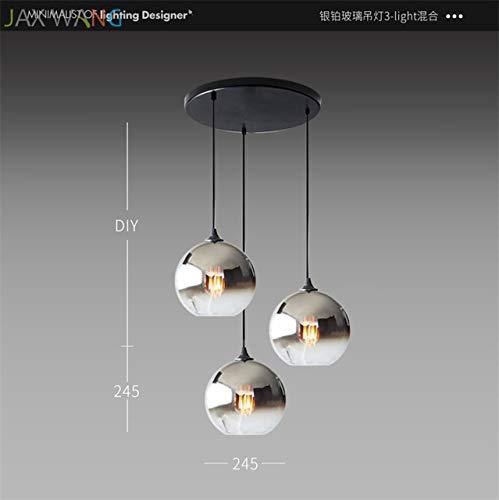 5151BuyWorld Lamp Nordic moderne hanglamp, eenvoudig, hoge kwaliteit, voor nachtkastje, woonkamer, slaapkamer, bar, restaurant, glazen bol, cafs