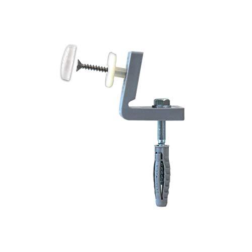 Fischer WB 5 NH - Fijación oculta para inodoro y bidé de suelo con agujeros laterales, para sanitarios con agujero ∅10 Art. 04245