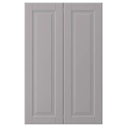 BODBYN 2-p dörr f hörnskåp set 25 x 80 cm grå