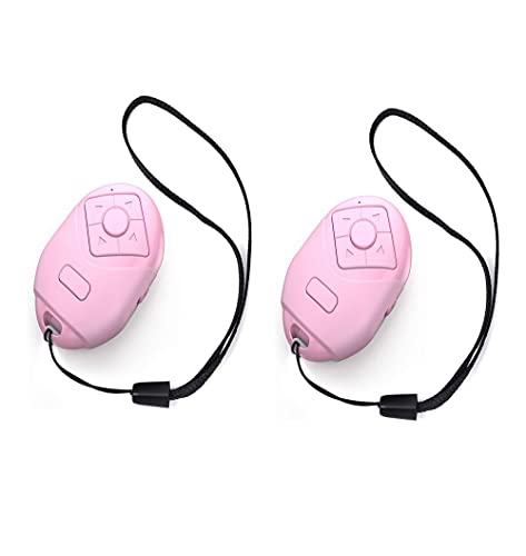 Bluetooth Camera Remote Shutter for iPhone & Android,TIK Tok Multifunction Remote, Protect The Phone Screen Without Touch, 2 Pac (Pink)