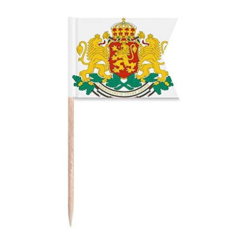 Bulgarien Nationalemblem Zahnstocher Flaggen Markierung für Party Kuchen Lebensmittel Käseplatte