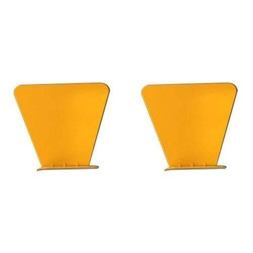 Hmg 2 PCS Inoxidable Metal Pared Invisible Librero de la decoración del hogar Flotante Estante (Blanco) (Color : Yellow)