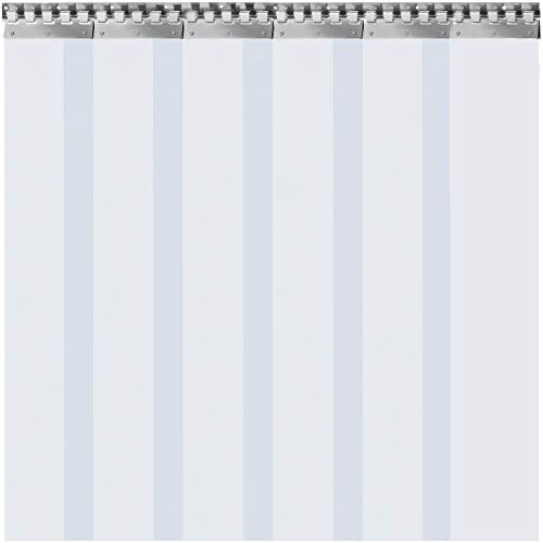 VEVOR Cortina Puerta PVC Transparente Impermeable 5-19 Tiras Total, Material Impermeable Transparente PVC, Cortina Puerta PVC Ancho Total 1-3m para Tiendas, Casas, Fábricas (6PCS/1m*2m*2mm)