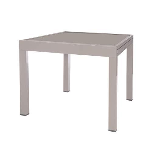 Mesa de terraza Extensible de Aluminio Gris Garden - LOLAhome