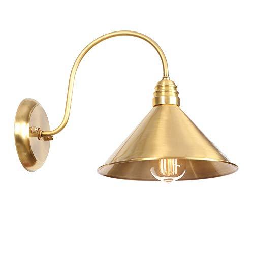 Buitenlamp wandverlichting wandlamp wandlamp binnen ijzer geschilderd koperen hanglamp 220V E27 LED met hangende lamp van schakelaarglans voor restaurantslaapkamerstudie Gotel