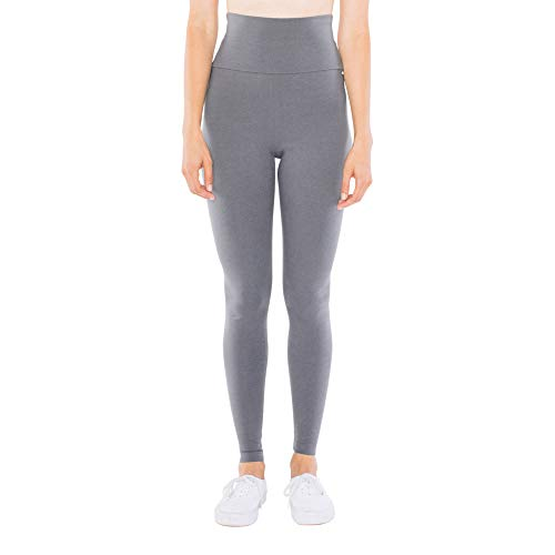 American Apparel Damen Cotton Spandex Jersey High-Waist Leggings, Asphalt, X-Klein