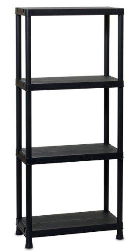 TOOMAX 138 x 60 x 30cm Universal Shelving 63-4 Maxi Shelf Unit with 4 Shelves - Black