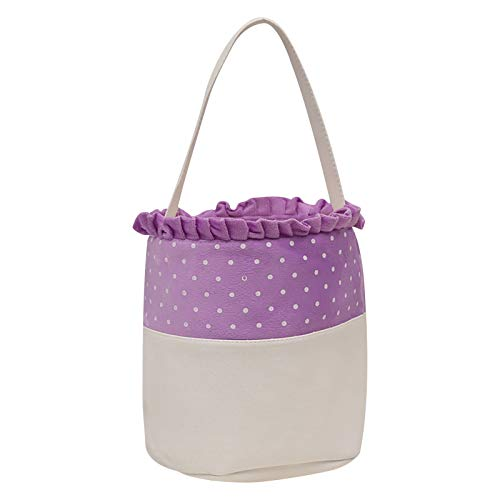 Ruidada Easter Lace Polka Dot Basket Holiday Kids Candy Gift Portable Basket Home & Garden Housekeeping & Organizers