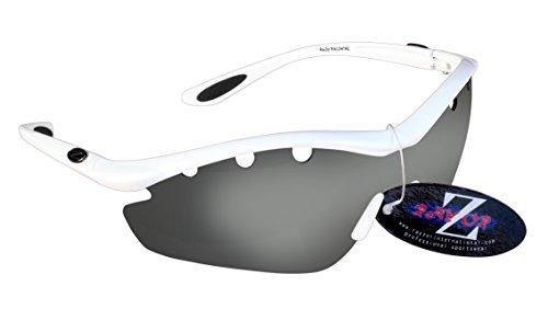 Rayzor profesionales ligeros UV400Blanco Deportes Wrap ciclismo Gafas de sol, con una...