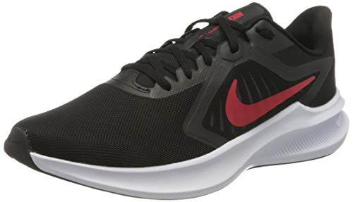 Nike Herren Downshifter 10 Running Shoe, Black/University Red-White, 41 EU