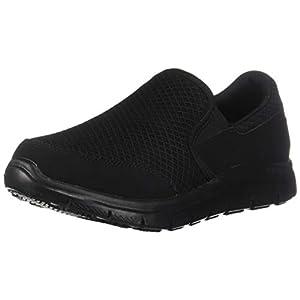 Skechers for Work Women's Gozard Walking Shoe, Black, 8 M US