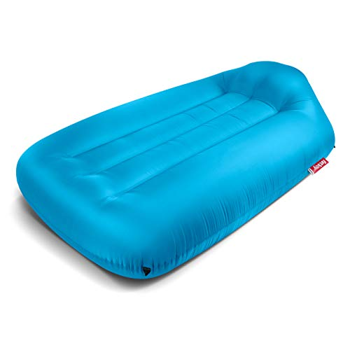 Fatboy Lamzac L, Portable Inflatable Air Lounger Bed with Carry Case - Aqua Blue